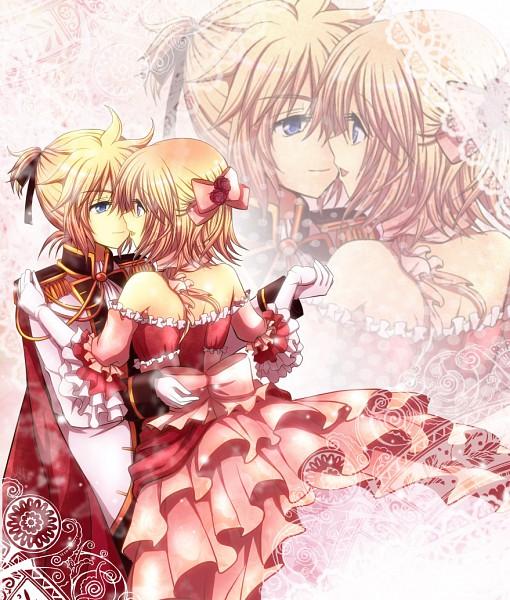 Tags: Anime, Zashiki Usagi, VOCALOID, Kagamine Rin, Kagamine Len, Twincest, Gown, Pixiv, Cinderella Syndrome, Kagamine Mirrors
