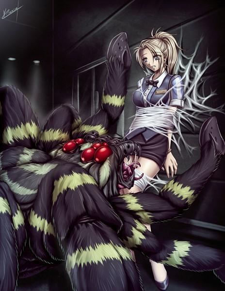Tags: Anime, Karosu-maker, Resident Evil: Outbreak, Resident Evil, Cindy Lennox, Spider, deviantART