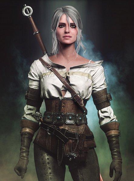 Tags: Anime, Anubisdhi, The Witcher Series, The Witcher 3: Wild Hunt, Cirilla Fiona Elen Riannon, Leather Clothes, deviantART