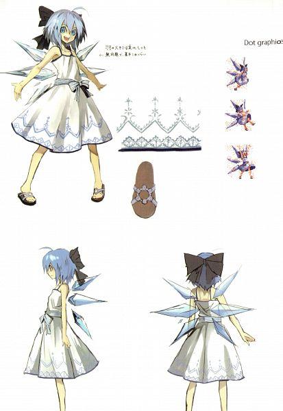 Tags: Anime, Banpai Akira, Frontier Aja, Scarlet - The Legendary Castle, Koumajou Densetsu, Touhou, Cirno, Scan, Official Art, Mobile Wallpaper, Pixiv, Character Sheet