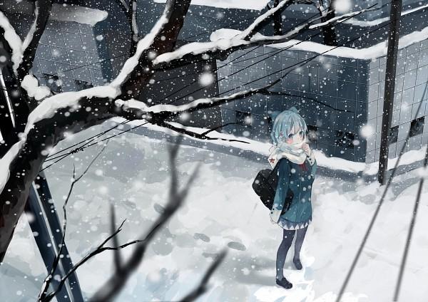 Tags: Anime, Bou Shaku, Touhou, Cirno, Fanart, PNG Conversion, Pixiv, Fanart From Pixiv