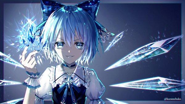 Tags: Anime, Pixiv Id 3215185, Touhou, Cirno, Pinafore Dress, Ojo Azules, Pixiv, Fanart, Fanart From Pixiv