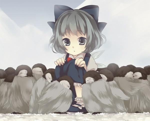 Tags: Anime, Maki (Natoriumu), Touhou, Cirno, Frilled Socks