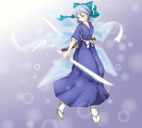 Tags: Anime, Pixiv Id 659036, Touhou, BLEACH, Sode no Shirayuki, Cirno, Kuchiki Rukia (Cosplay), Zanpakutou