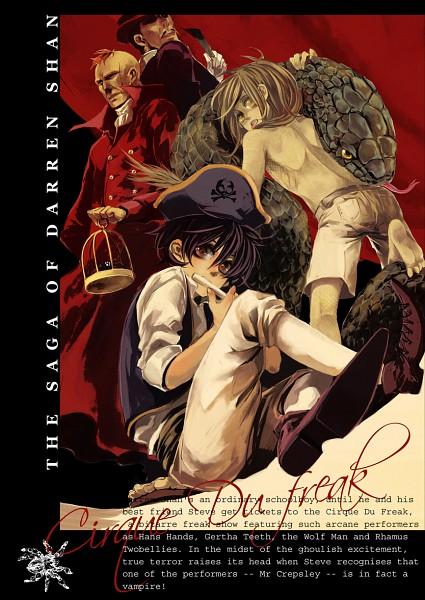 Tags: Anime, Cirque du Freak (Book), Darren Shan (Character), Hibernius Tall, Evra Von, Larten Crepsley, Circus, Mobile Wallpaper, Artist Request