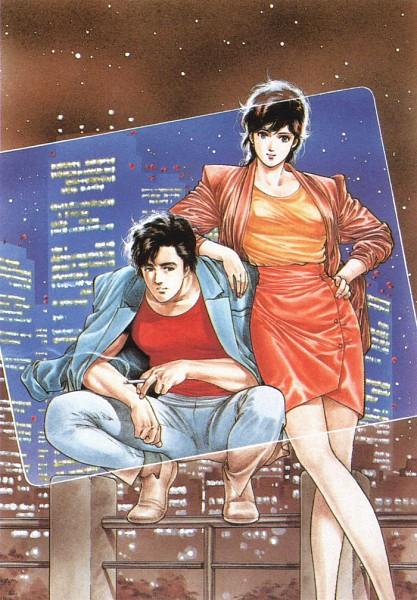 Tags: Anime, Hojo Tsukasa, City Hunter, Makimura Kaori, Ryo Saeba, Official Art