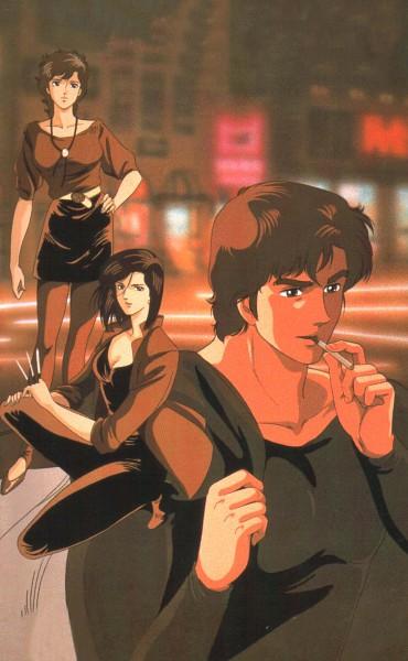 Tags: Anime, City Hunter, Ryo Saeba, Nogami Saeko, Makimura Kaori, Official Art
