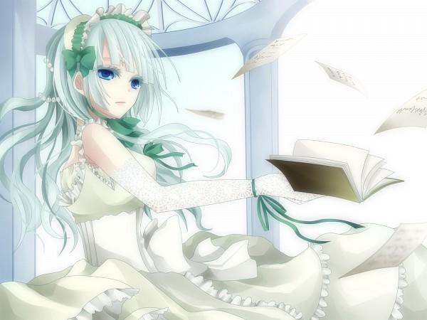 Tags: Anime, Maria (Artist), 07th Expansion, Umineko no Naku Koro ni, Claire Bernardus, Gown, Flying Paper, Wallpaper