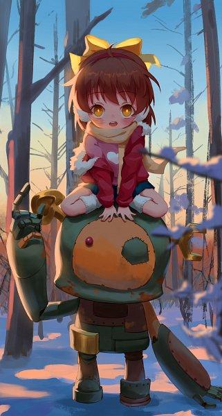 Tags: Anime, Pixiv Id 12396885, Clannad: After Story, CLANNAD, Okazaki Ushio, Garbage Doll, Fanart From Pixiv, Fanart, Pixiv