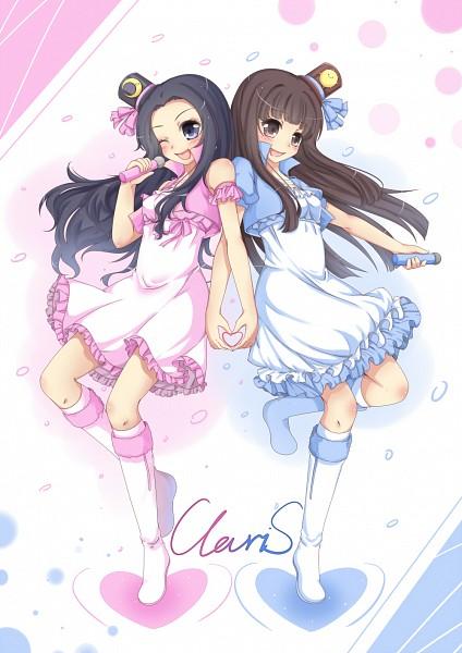 Tags: Anime, Pixiv Id 1214391, Alice (ClariS), Clara (ClariS), Heart Gesture Duo, Pixiv, ClariS