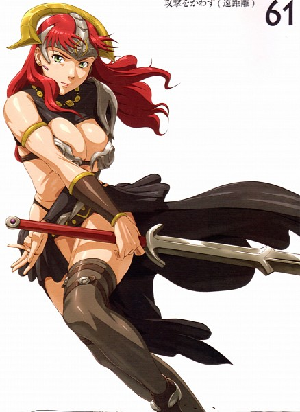 Tags: Anime, Nigou, Queen's Blade, Queen's Blade Competitive Visual Book - Claudette Vance, Claudette Vance, Official Art