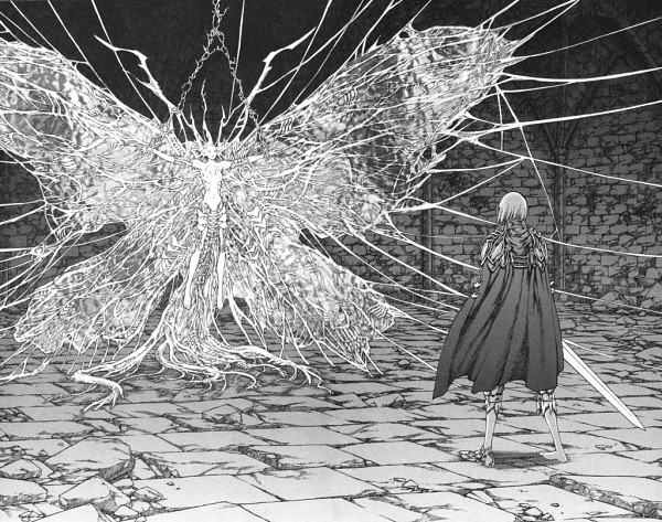 Tags: Anime, Yagi Norihiro, Claymore, Jean (Claymore), Clare, Scan, Official Art