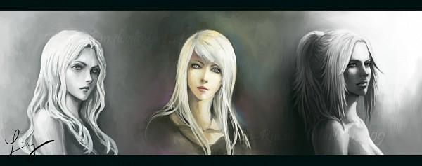 Tags: Anime, Pseudolirium, Claymore, Miria (Claymore), Galatea, Teresa, Fanart From DeviantART, Fanart, Facebook Cover, deviantART