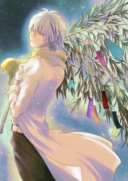 Tags: Anime, Saki (Pixiv 276714), DRAMAtical Murder, Clear (DMMd), Pentagram, Tanabata, Pixiv, Fanart, Fanart From Pixiv, Mobile Wallpaper