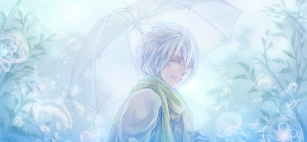 Tags: Anime, Kino (Pixiv2424182), DRAMAtical Murder, Clear (DMMd), Jellyfish, Fanart, Fanart From Pixiv, Facebook Cover, Pixiv