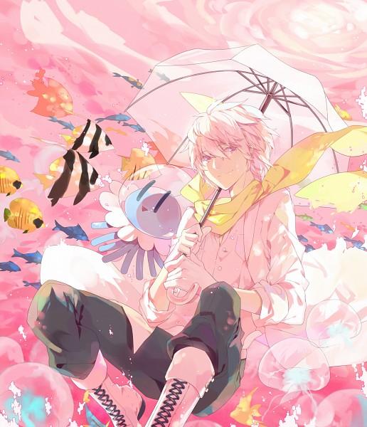 Tags: Anime, Momomoca, DRAMAtical Murder, Clear (DMMd), Jellyfish, Fanart From Pixiv, Pixiv, Fanart