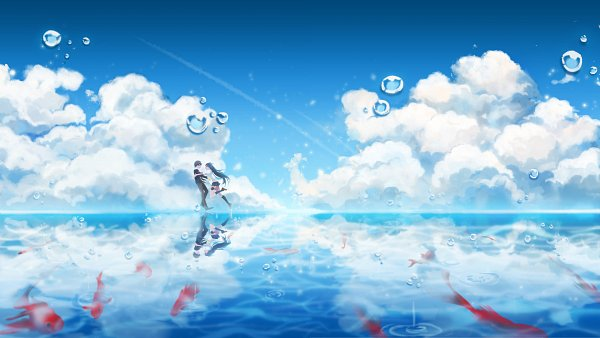 Tags: Anime, Closers: Dimension Conflict, Yuri Seo, Seha Lee, Splash, Pounce, Pixiv Id 2277359, Water Reflection, Pixiv, Fanart From Pixiv, Fanart