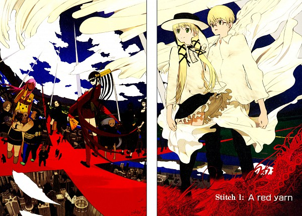 Tags: Anime, Okama, Cloth Road, Fergus, Jennifer (Cloth Road), Manga Color, Official Art, Scan