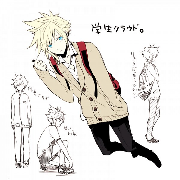 Tags: Anime, Bisuko, Final Fantasy VII, Cloud Strife, Contemporary