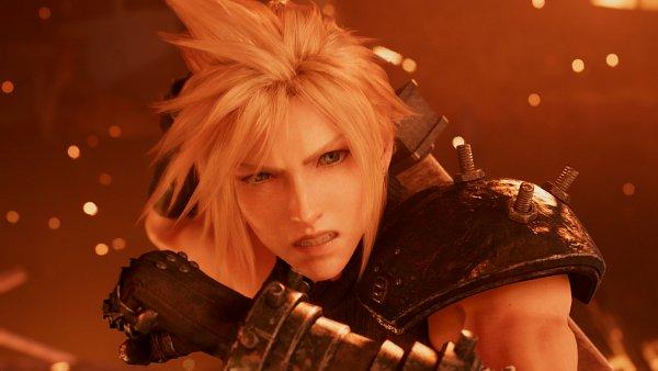 Tags: Anime, SQUARE ENIX, Final Fantasy VII, Final Fantasy VII Remake, Cloud Strife, Motion Blur, Orange (Color), 3D, Screenshot