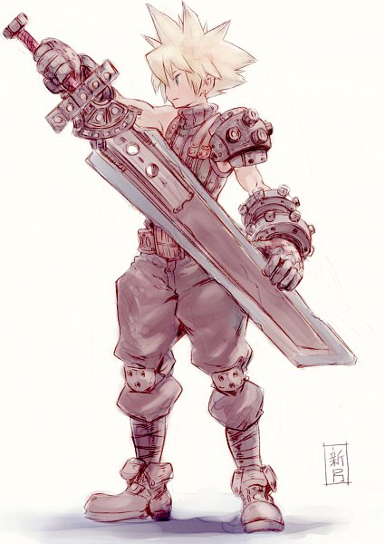 Tags: Anime, Pixiv Id 20317777, Final Fantasy VII, Cloud Strife