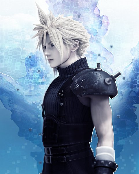 Tags: Anime, SQUARE ENIX, Final Fantasy VII, Mobius Final Fantasy, Cloud Strife, Official Card Illustration, Official Art, 3D