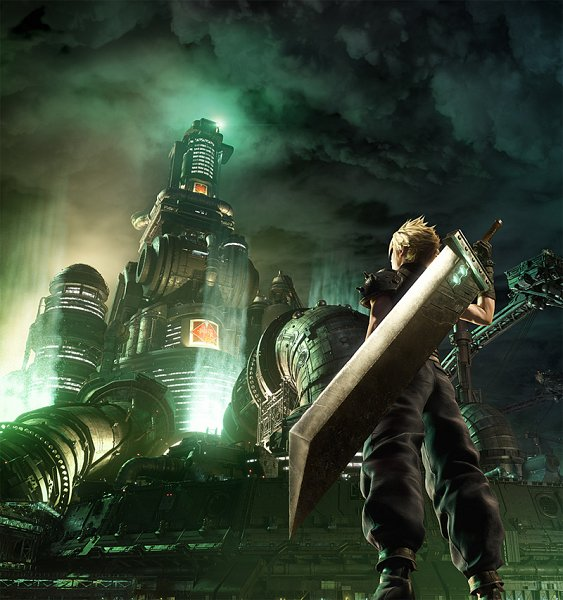 Tags: Anime, SQUARE ENIX, Final Fantasy VII, Final Fantasy VII Remake, Cloud Strife, Oversized Object, Huge Weapon, Official Art, 3D, Key Visual