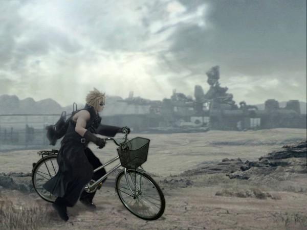 Tags: Anime, Final Fantasy VII, Cloud Strife, Wallpaper, Edited