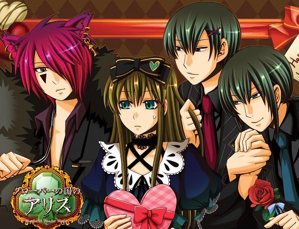 Tags: Anime, Alice in Wonderland, Clover no Kuni no Alice ~Wonderful Wonder World~, Heart no Kuni no Alice, Alice Liddell, Grey Ringmark, Dum (Heart no Kuni no Alice), Boris Airay, Dee (Heart no Kuni no Alice), Reverse Harem