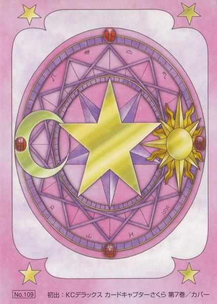 Tags: Anime, CLAMP, Cardcaptor Sakura, Sun (Symbol), Clow Book, Official Art, Scan