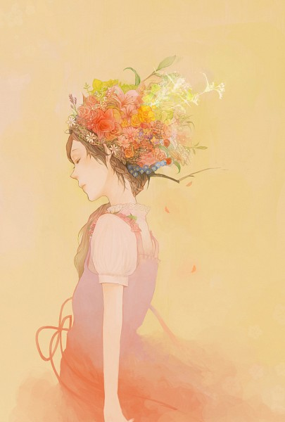 Tags: Anime, Coba, Marigold, Peaceful, Original, Pixiv, Mobile Wallpaper