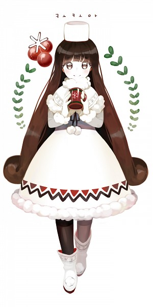 Tags: Anime, CA (Pixiv1409990), Cookie Run, Cocoa Cookie, Berry, Pixiv, Fanart From Pixiv, Fanart, PNG Conversion