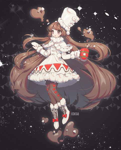 Tags: Anime, Pixiv Id 9447971, Cookie Run, Cocoa Cookie, Hot Chocolate, Brown Legwear, Russian Clothes, Ushanka, Fanart, Fanart From Pixiv, Pixiv