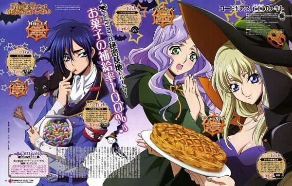 Tags: Anime, Sunrise (Studio), Code Geass: Boukoku no Akito, Anna Clement, Leila Malcal, Hyuuga Akito, Official Art, Code Geass: Akito The Exiled