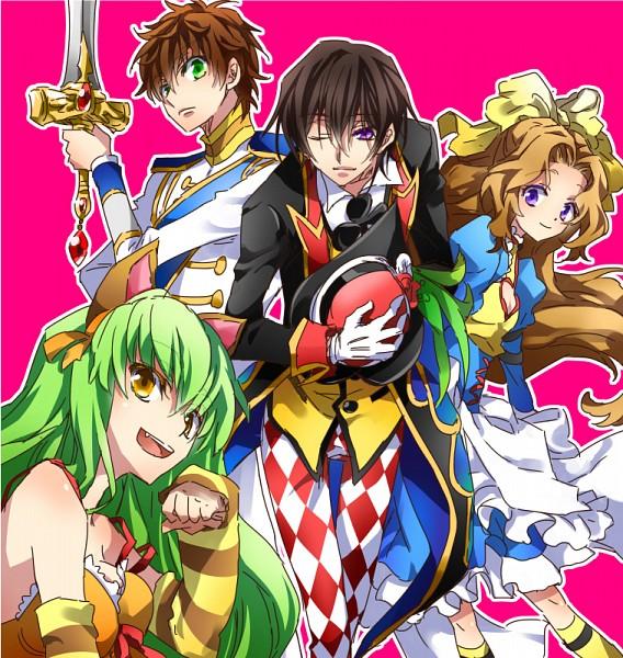 Tags: Anime, Touya (Artist), CODE GEASS: Hangyaku no Lelouch, Code Geass: Nunnally in Wonderland, Lelouch Lamperouge, Nunnally Lamperouge, Kururugi Suzaku, C.C.