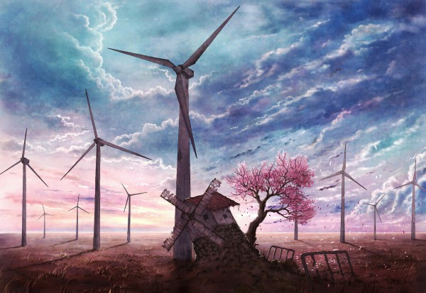 Tags: Anime, Cola Gotouryouta, Windmill, Wind Turbine, Original, Pixiv