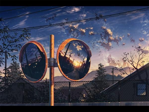 Tags: Anime, Cola Gotouryouta, Chain Link Fence, Pole, Power Lines, Utility Pole, Pixiv, Original
