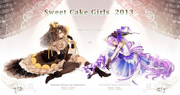 Tags: Anime, Yukinokoe, Katase0708, Blueberry, Wallpaper, Pixiv, Facebook Cover, Original, Collaboration