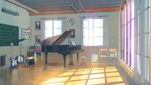 Tags: Anime, ArseniXC, iCephei, Everlasting Summer, Bass Guitar, Drum, No Character, Chalkboard, Roomscape, Collaboration, deviantART, Original, Facebook Cover