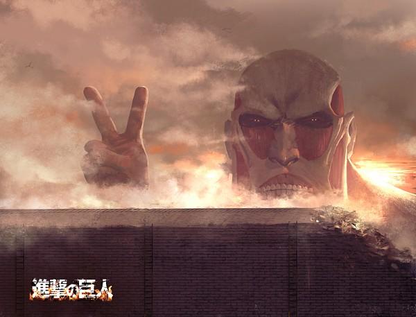 Tags: Anime, Pixiv Id 1517606, Attack on Titan, Bertholdt Fubar, Colossal Titan, Titan (Shingeki no Kyojin), Brick Wall