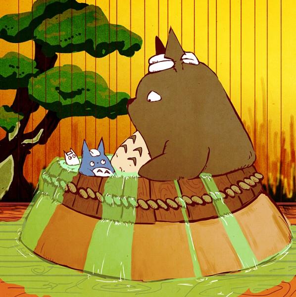Tags: Anime, Pixiv Id 579066, Tonari no Totoro, Sen to Chihiro no Kamikakushi, Totoro, Chu-totoro, Company Connection, Fanart, Fanart From Pixiv, Pixiv
