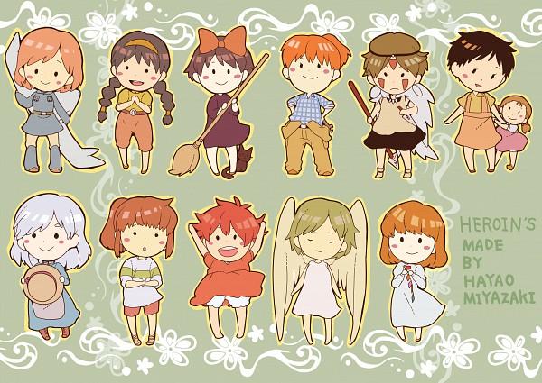 Tags: Anime, Hal (Honobono Bousouzoku), Lupin III, Gake no Ue no Ponyo, Tenkuu no Shiro Laputa, Sen to Chihiro no Kamikakushi, Kurenai no Buta, Rupan Sansei: Castle no Shiro, Tonari no Totoro, Howl no Ugoku Shiro, Majo no Takkyuubin, Mononoke Hime, Kaze no Tani no Nausicaä