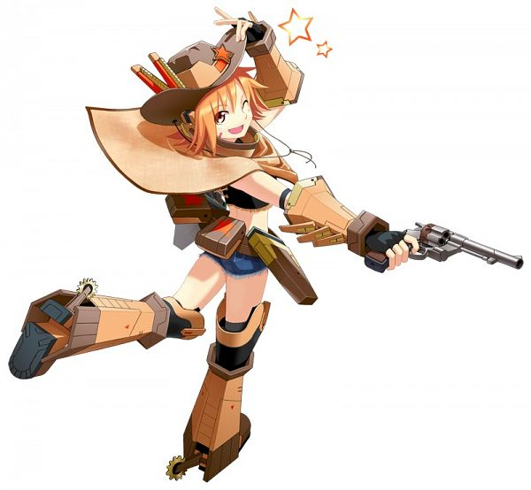 Tags: Anime, Cyberstep, Cosmic Break, Connie Sheriff, Western, Cowboy, Official Art