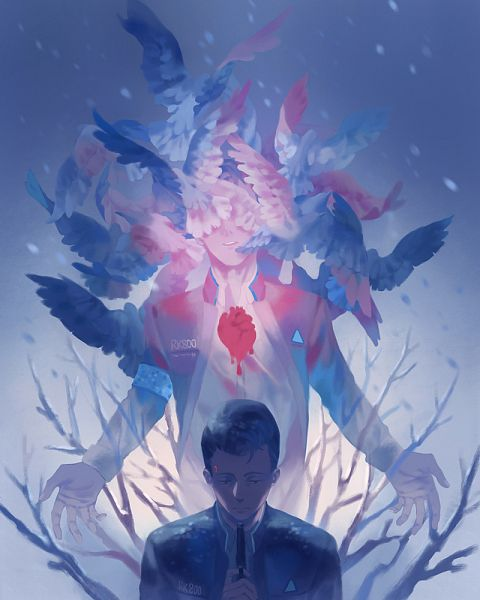 Tags: Anime, Pixiv Id 1457266, Detroit: Become Human, Connor (Detroit: Become Human), Heart (Organ), Pixiv, Fanart, Fanart From Pixiv