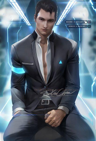 Tags: Anime, Sakimichan, Detroit: Become Human, Connor (Detroit: Become Human), Fanart From DeviantART, Fanart, Fanart From Pixiv, deviantART, Pixiv
