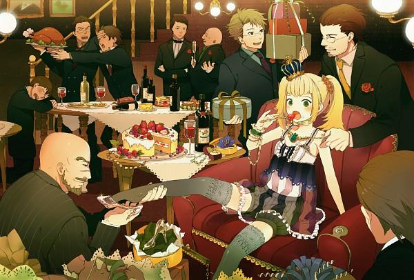 Tags: Anime, Conronca, Reverse Harem, Strawberry Shortcake, Glass Shoes, Party, Dinner, Pixiv, Original