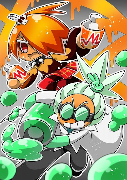 Tags: Anime, Pixiv Id 2510242, Cookie Run: OvenBreak, Cookie Run, Dr. Wasabi Cookie, Mustard Cookie, Spray Can, Syringe, Rabbit Clip, Fanart, Fanart From Pixiv, Pixiv