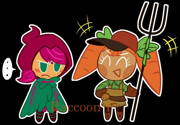 Tags: Anime, Raccoon-p, Cookie Run: OvenBreak, Cookie Run, Beat Cookie, Carrot Cookie, Rake, Fanart, Fanart From DeviantART, deviantART