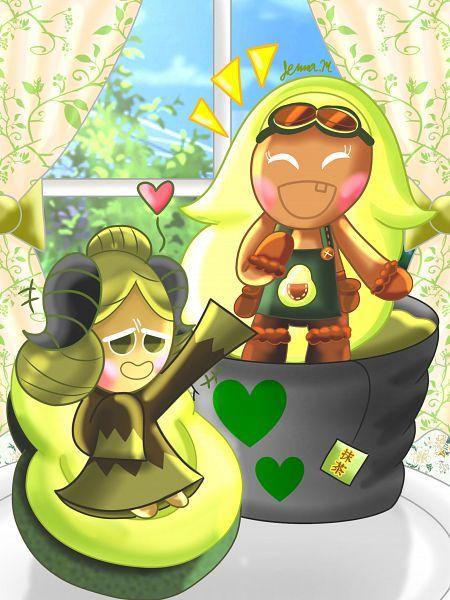 Tags: Anime, Jennalt-01angel, Cookie Run: OvenBreak, Cookie Run, Matcha Cookie, Avocado Cookie, Fanart, Fanart From DeviantART, deviantART