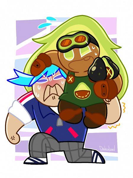 Tags: Anime, Darkerload, Cookie Run: OvenBreak, Cookie Run, Avocado Cookie, Ice Candy Cookie, Fanart From Pixiv, Pixiv, Fanart